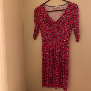 Boden size 2 red floral dress